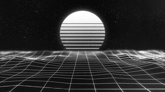 Synthwave lightgrid landscape-2