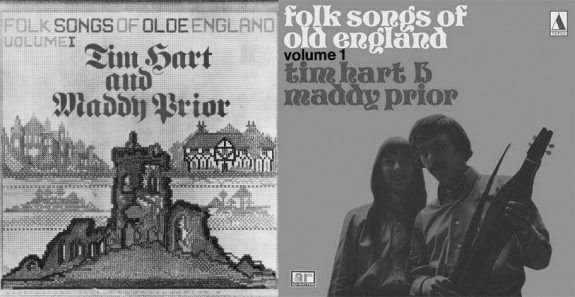 Tim-Hart-and-Maddy-Prior-Folk-Songs-of-Olde-England-two different versions of the album cover