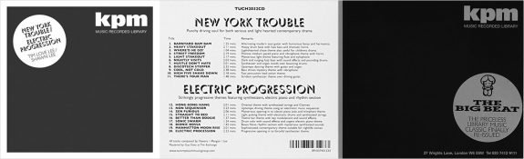 KPM-New York Trouble-The Big Beat-Tummy Touch reissues-library music albums