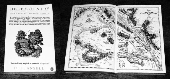 Deep-Country-Neil-Ansell-book cover and map