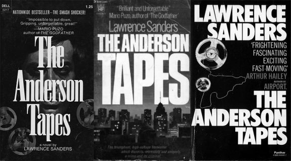 The Anderson Tapes-Lawrence Sanders-3 different version of book cover