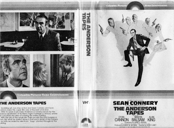The Anderson Tapes-VHS cover